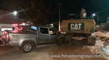 Homem morre após colisão de caminhonete com máquina escavadeira em Itaituba - Jornal Folha do Progresso