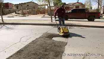 #Cuauhtemoc | Continúa Municipio reparando calles y avenidas de la ciudad - Adriana Ruiz