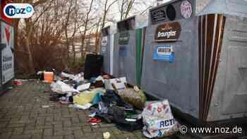 Altglas-Sammelstelle wird zur Müllkippe - noz.de - Neue Osnabrücker Zeitung