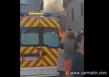 VIDÉO. Un gros incendie dans le centre de Cuers détruit deux appartements - Var-Matin