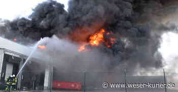 340 Rettungskräfte bei Schlachthofbrand in Zeven im Einsatz - WESER-KURIER