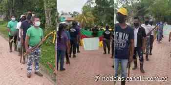 Comunidad indígena y personal médico protestan en Puerto Nariño, Amazonas - Canal 1