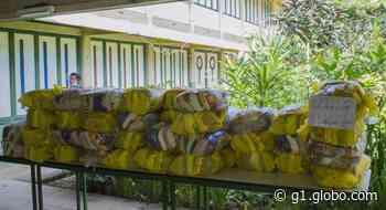 Prefeitura de Cataguases inicia entrega de kits de alimentação para alunos da rede municipal - G1