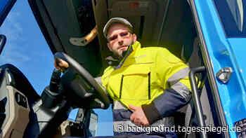...Kai Lehl, Berufskraftfahrer bei der Nagel-Group - Tagesspiegel Background
