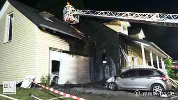 In Weismain griff Feuer von Auto auf Einfamilienhaus über - BR24