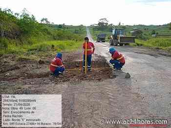 Manutenção da BR-364 entre Rio Branco e Cruzeiro do Sul iniciou - ac24horas