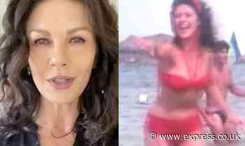 Catherine Zeta Jones causes a stir as she shares bikini-clad clip 'Crazy days of summer' - Express.co.uk