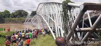 Colapsó puente de Colimes, en Guayas, y población quedó incomunicada - La Hora (Ecuador)