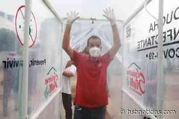 Instalan ducha de desinfección en Puerto López para combatir el coronavirus - HSB Noticias