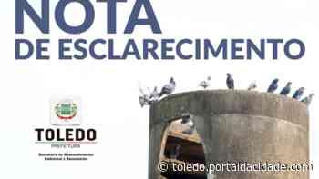 Nota de Esclarecimento: Denúncia falsa sobre envenenamento dos pombos - ® Portal da Cidade | Toledo