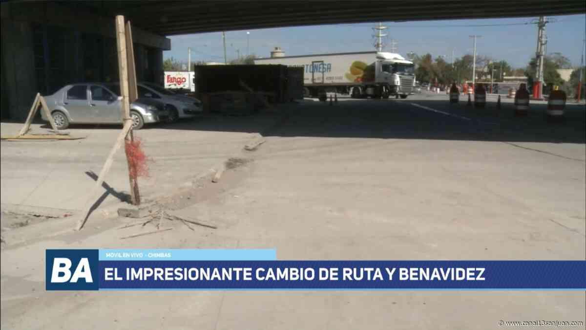 Irreconocible: así está el cruce de Benavidez con Ruta 40 - Canal 13 San Juan TV