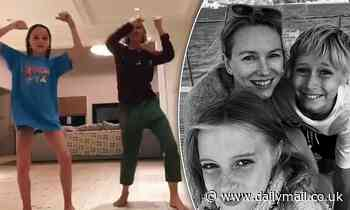 Naomi Watts, 51, 'stays relevant' by filming TikTok dancing videos with her son - Daily Mail