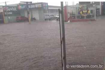 Fortes chuvas voltam a alagar avenida em Ituverava - verdadeon.com.br