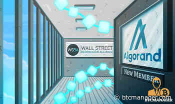 Algorand (ALGO) Joins Wall Street Blockchain Alliance (WSBA) - BTCMANAGER