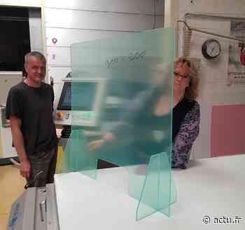 À Gisors dans l'Eure, une entreprise offre gratuitement des plexiglas de protection aux commerçants - Normandie Actu