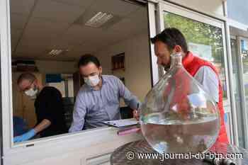 Isère Vienne Condrieu Agglomération distribue du gel aux entreprises - Le journal du Bâtiment et des TP