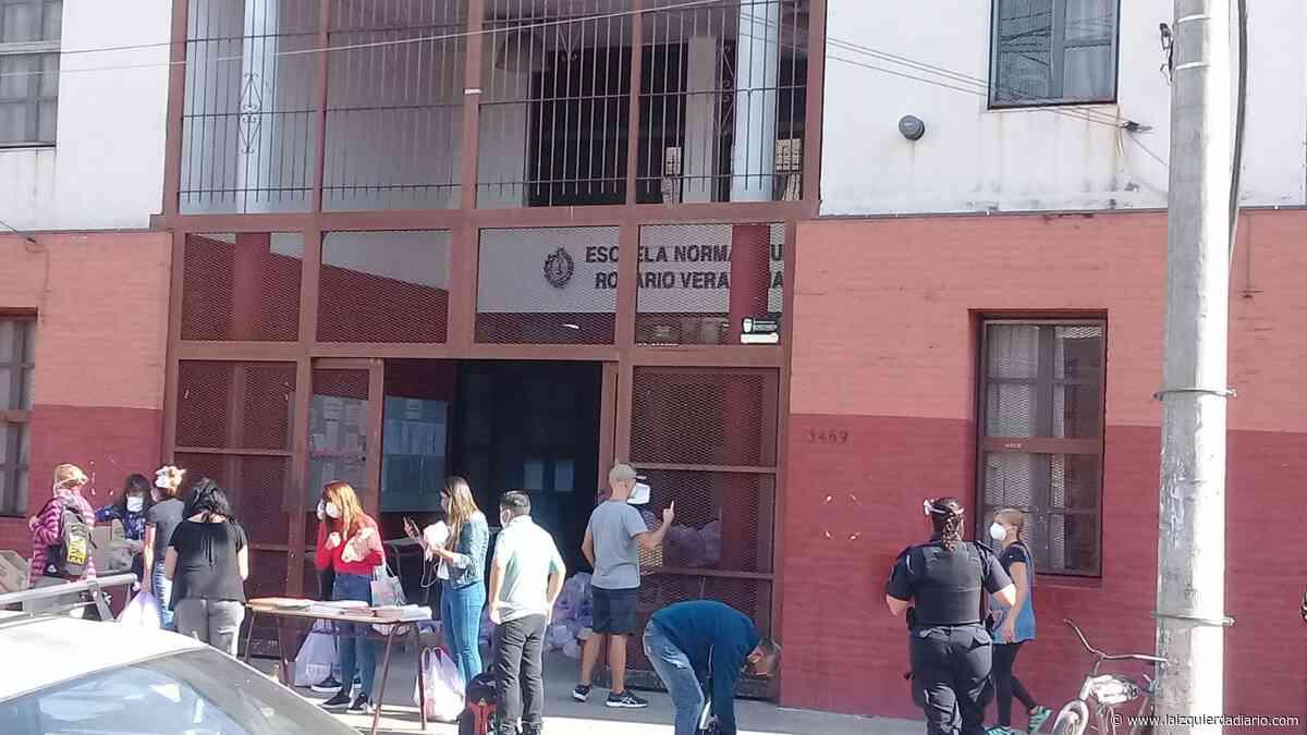 Docentes auxiliares y estudiantes organizan el reparto de alimentos en Villa Ballester - La Izquierda Diario
