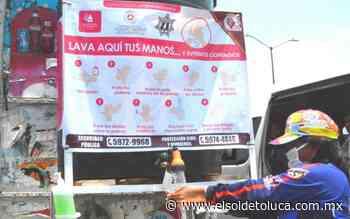 Bomberos instalan lavabos móviles en Ixtapaluca para evitar contagios de Covid-19 - El Sol de Toluca