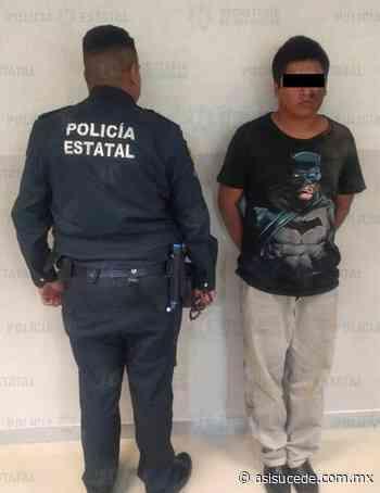 Detienen en Ixtapaluca a sujeto por participar en el robo con violencia a un transeúnte - Noticiario Así Sucede