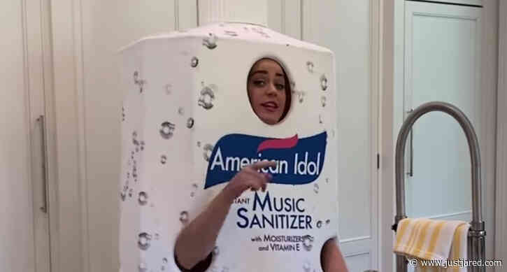 Katy Perry Wears Giant Hand Sanitizer Costume in Honor of 'American Idol' - Watch!