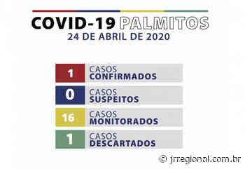 Palmitos registra caso positivo de covid-19 - JRTV Jornal Regional