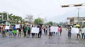 Protesta en Mariara por asesinato de joven presuntamente por parte de un policía de Carabobo - El Carabobeño