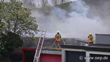 Brand in Gaildorf: Wohnhaus steht in Flammen: Feuerwehr stundenlang im Einsatz - SWP