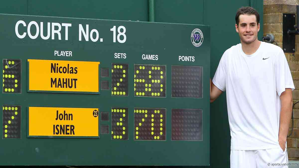 When John Isner served up a Wimbledon marathon against Nicolas Mahut - Yahoo Sports