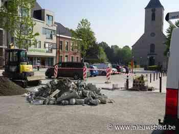 Marktplein (beetje) in groot onderhoud (Sint-Lievens-Houtem) - Het Nieuwsblad