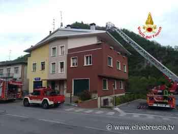 Vestone: principio d'incendio in una canna fumaria - elivebrescia.tv