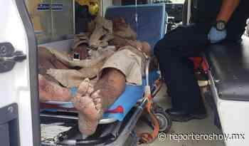 Por el intenso calor, indigente se desmaya en la vía Peto-Tzucacab - Reporteros Hoy