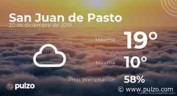 El clima para hoy en San Juan de Pasto, 20 de diciembre de 2019 - Pulzo