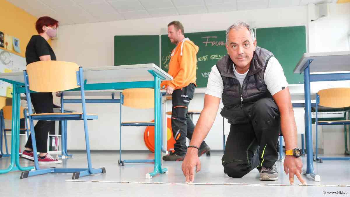 Dillingen: Schulen rüsten sich für Corona-Unterricht: Tischerücken für Schulstart - BILD