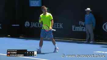 VIDEO - Highlights: Donald Young v Philipp Kohlschreiber - Australian Open - Eurosport.co.uk