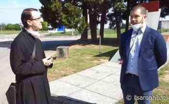 A Cogliate don Mauro diventa videoreporter: prima intervista al sindaco Basilico - ilSaronno