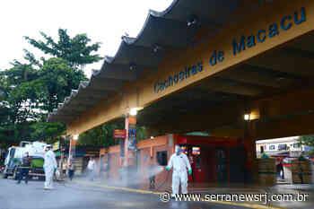 Empresa realiza desinfecção de ruas e rodoviária de Cachoeiras de Macacu - Serra News