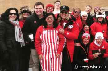 Student forges special bond with commencement speaker James Patterson, her childhood reading hero - University of Wisconsin-Madison