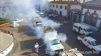 Sanitizan unidades de transporte público y fachadas del centro de Chignahuapan - Puebla Noticias