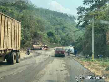 Se registra un accidente entre el Manguito y Chiquila, Santa Barbara - canal6.com.hn