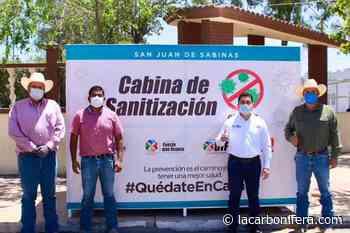 Instala Julio Long cabinas de sanitización en Nueva Rosita - LaCarbonifera.com