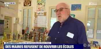 Le maire de Courcelles-lès-Gisors (Oise) justifie sur BFM TV la non-réouverture de l'école communale - actu.fr