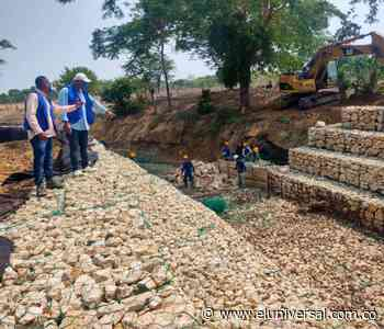 Reinician la construcción de gaviones en arroyo de Mahates - El Universal - Colombia