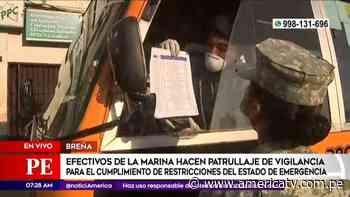 Coronavirus: La Marina controla tránsito vehicular y peatonal en av. Alfonso Ugarte - América Televisión
