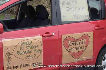Caravan demonstrates outside Maple Ridge prisons - Ashcroft Cache Creek Journal