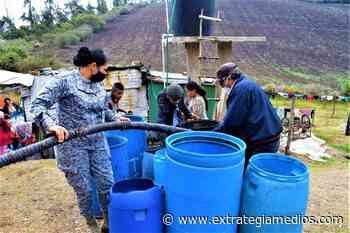 FAC abastece de agua potable a veredas de Zipacón - Extrategia Medios