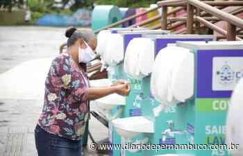 Cabo de Santo Agostinho disponibiliza lavatórios portáteis em agência bancária - Diário de Pernambuco