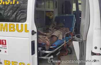 Octagenario se desvanece en la Peto-Tzucacab - Yucatán a la mano