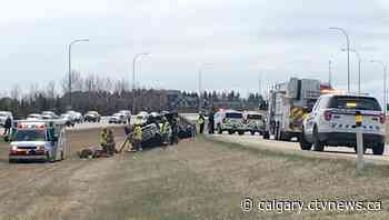 Emergency crews respond to multi-vehicle crash near Chestermere, Alta. - CTV News