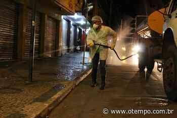 Lagoa Santa inicia desinfecção das ruas da cidade para combater o coronavírus - O Tempo