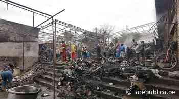 Moquegua: Incendio arrasa con 30 puestos de mercado en Ilo - LaRepública.pe